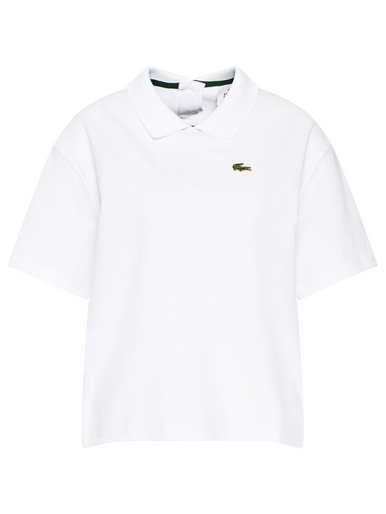 Lacoste Lacoste Polo PF0857 Biały Boxy Fit