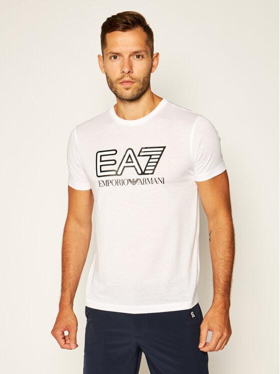EA7 Emporio Armani EA7 Emporio Armani Marškinėliai 6HPT81 PJM9Z 1100 Balta Regular Fit