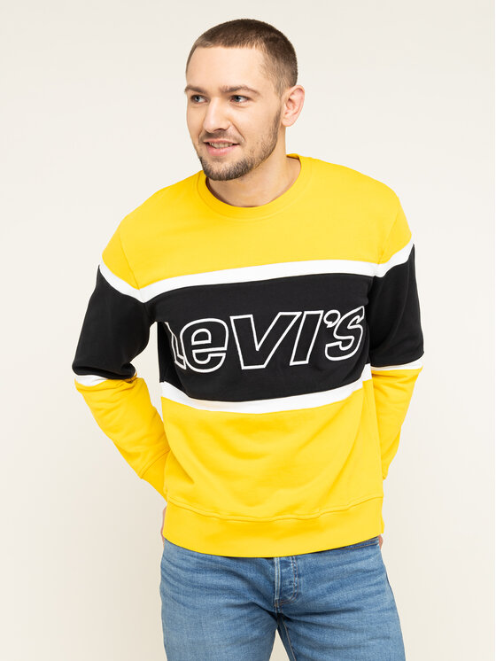 Levi's® Levi's® Bluza Pieced Crewneck 79550-0001 Żółty Regular Fit