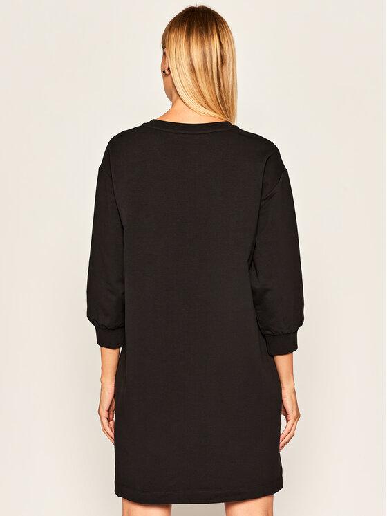LOVE MOSCHINO LOVE MOSCHINO Úpletové šaty W5B7601E 2182 Černá Regular Fit