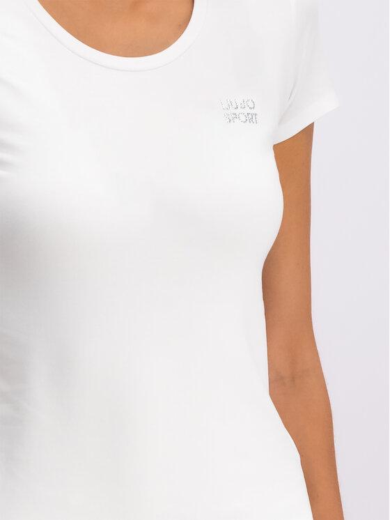 Liu Jo Sport Liu Jo Sport T-shirt Basica T19073 J5003 Bianco Slim Fit