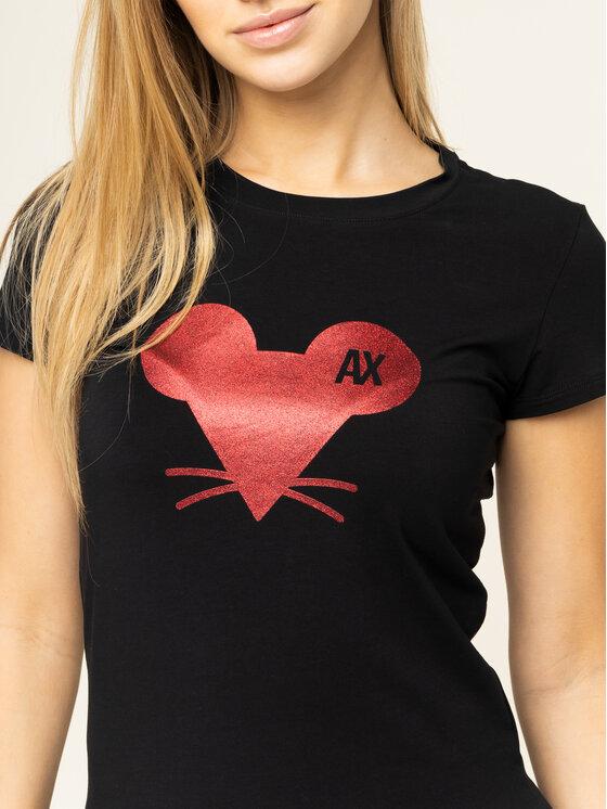 Armani Exchange Armani Exchange Marškinėliai 3HYT87 YJC7Z 1200 Juoda Regular Fit