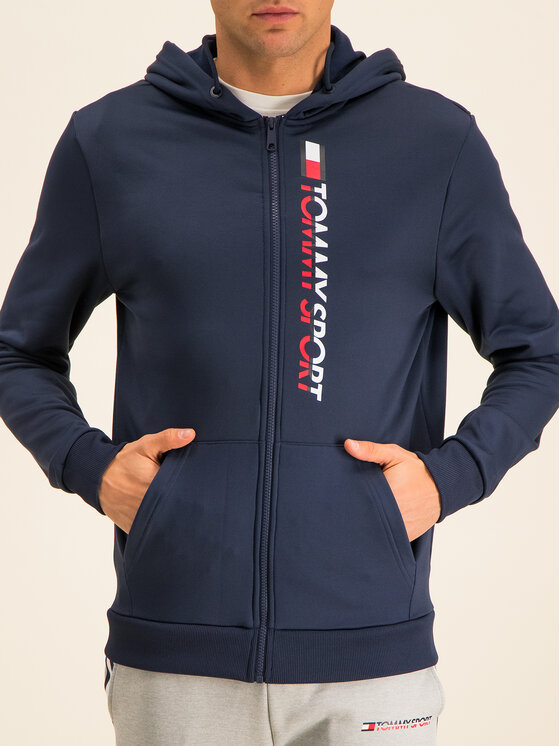 Tommy Sport Tommy Sport Bluza Vertical S20S200140 Granatowy Regular Fit
