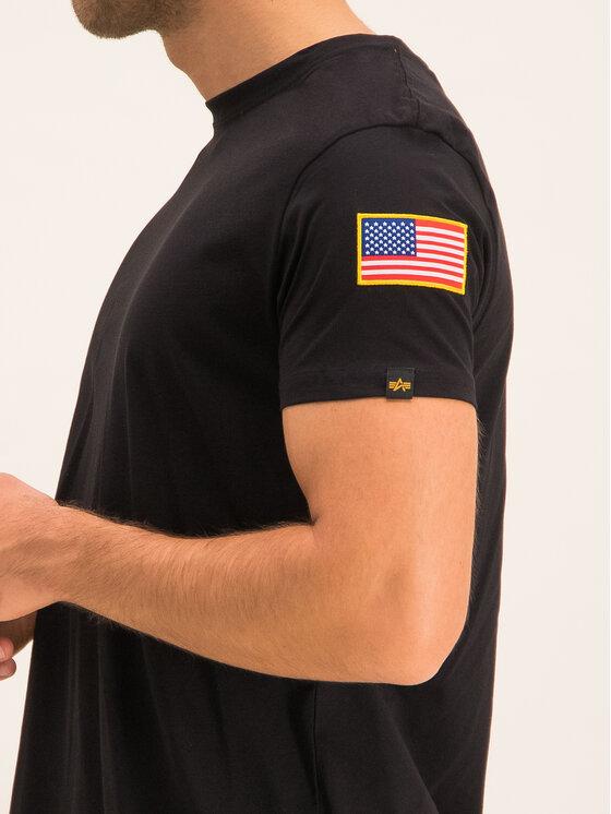 Alpha Industries Alpha Industries Marškinėliai Nasa 176506 Juoda Regular Fit