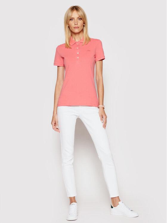Lacoste Lacoste Polo PF5462 Różowy Slim Fit