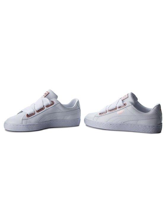Puma Puma Sneakersy Basket Heart Leather 367817 01 Biały