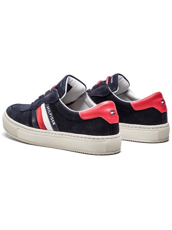 Tommy Hilfiger Tommy Hilfiger Sneakers Suede Mix Corporate Sneaker FM0FM01980 Dunkelblau