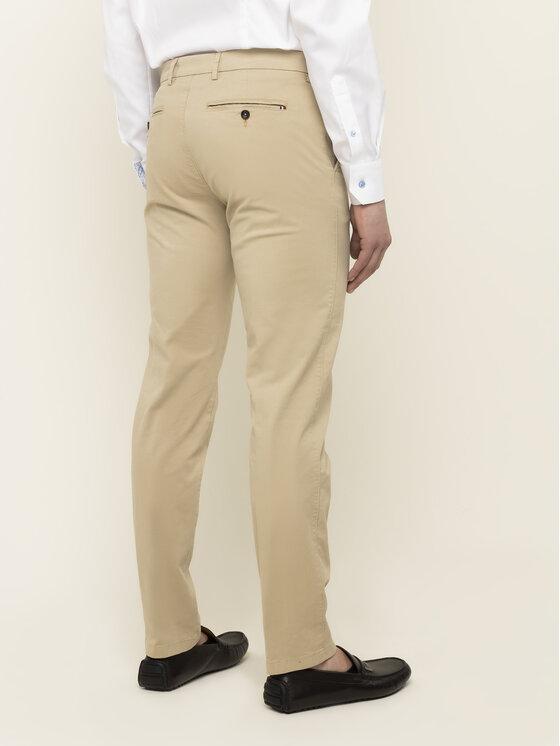 Tommy Hilfiger Tailored Tommy Hilfiger Tailored Bavlnené nohavice Flex TT0TT06924 Béžová Slim Fit