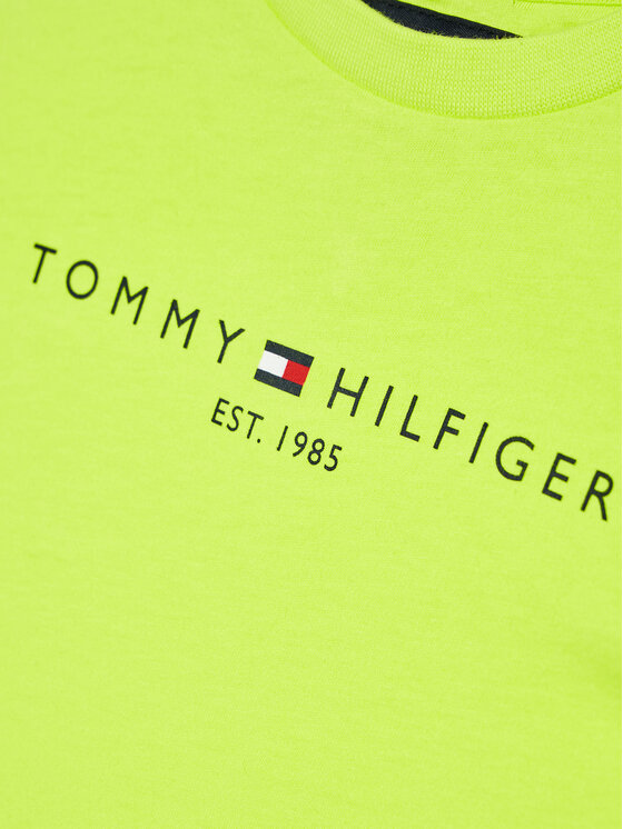 Tommy Hilfiger Tommy Hilfiger T-Shirt Essential Logo KB0KB05844 D Zielony Regular Fit