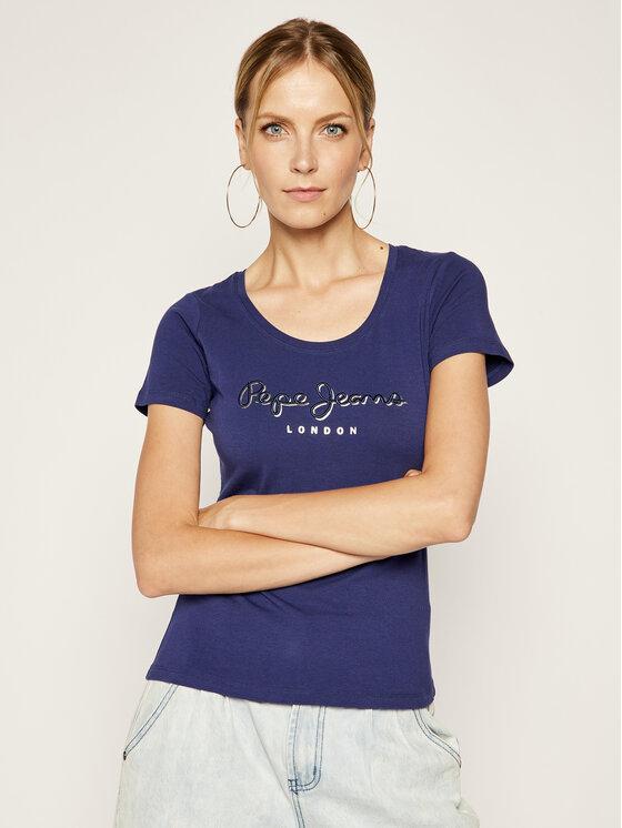 Pepe Jeans Pepe Jeans T-Shirt PL504034 Tmavomodrá Regular Fit