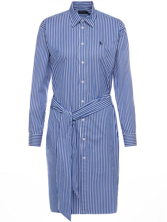 Polo Ralph Lauren Polo Ralph Lauren Košeľové šaty Striped 211781122 Modrá Regular Fit