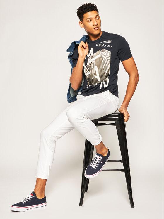 Armani Exchange Armani Exchange T-Shirt 3HZTHP ZJH4Z 1510 Dunkelblau Regular Fit