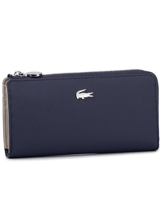 Lacoste Didelė Moteriška Piniginė Slim Zip Wallet NF2780DC Tamsiai mėlyna