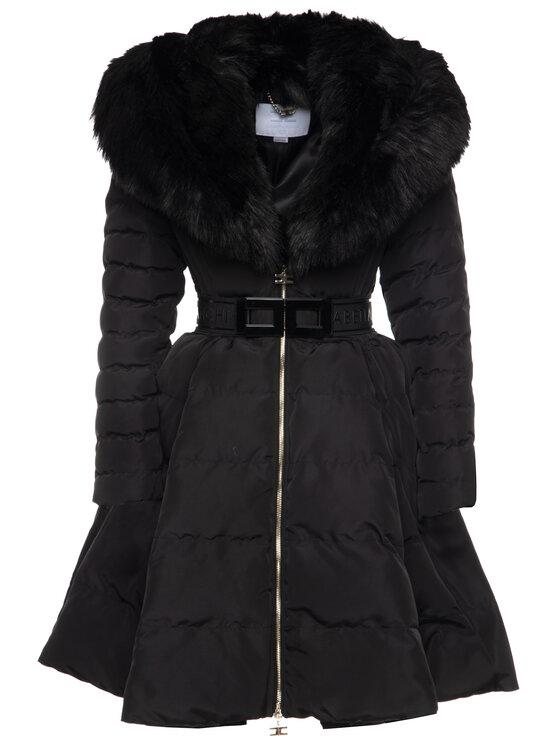 Elisabetta Franchi Elisabetta Franchi Παλτό χειμωνιάτικο PI-11Z-96E2-V569 Μαύρο Regular Fit