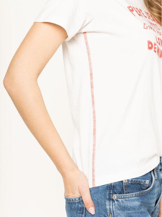 Pepe Jeans Pepe Jeans T-Shirt Kara PL504341 Beżowy Regular Fit