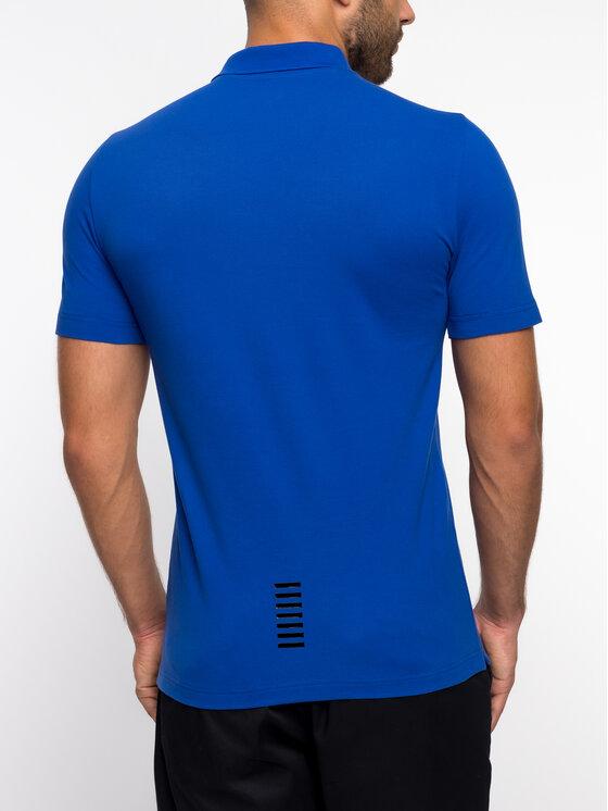 EA7 Emporio Armani EA7 Emporio Armani Тениска с яка и копчета 3GPF52 PJ04Z 1582 Син Regular Fit