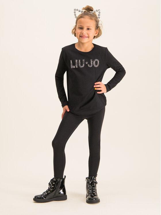 Liu Jo Kids Liu Jo Kids Bluse G69010 J0088 Schwarz Regular Fit