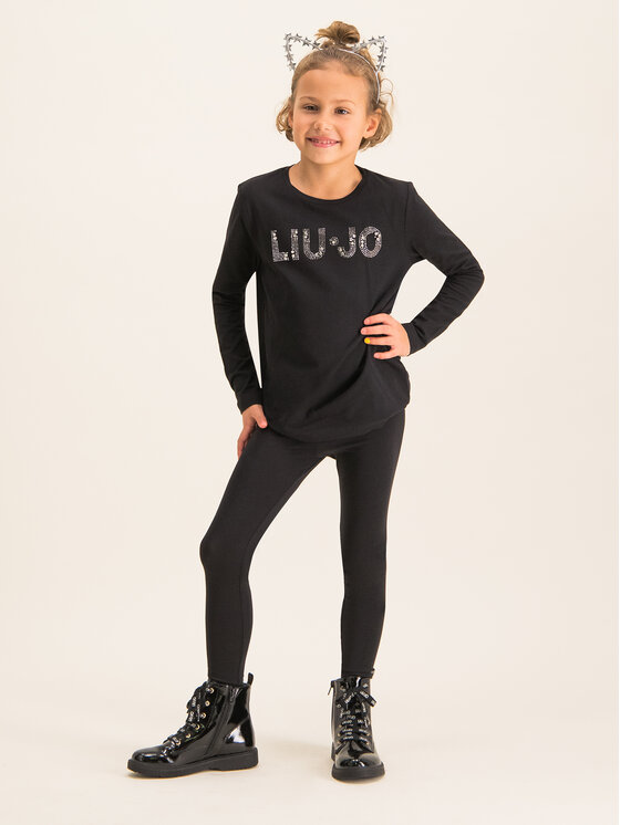 Liu Jo Kids Liu Jo Kids Bluză G69010 J0088 Negru Regular Fit