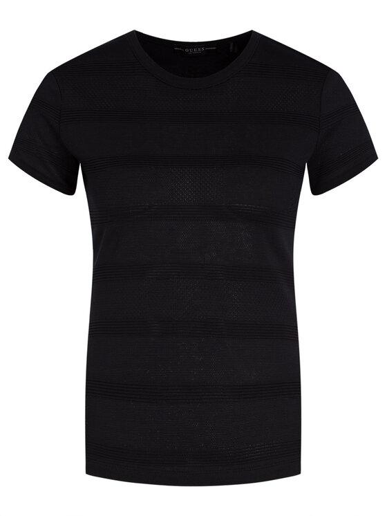 Guess Guess T-Shirt Ss Flavia W01P0H K9KN0 Schwarz Slim Fit