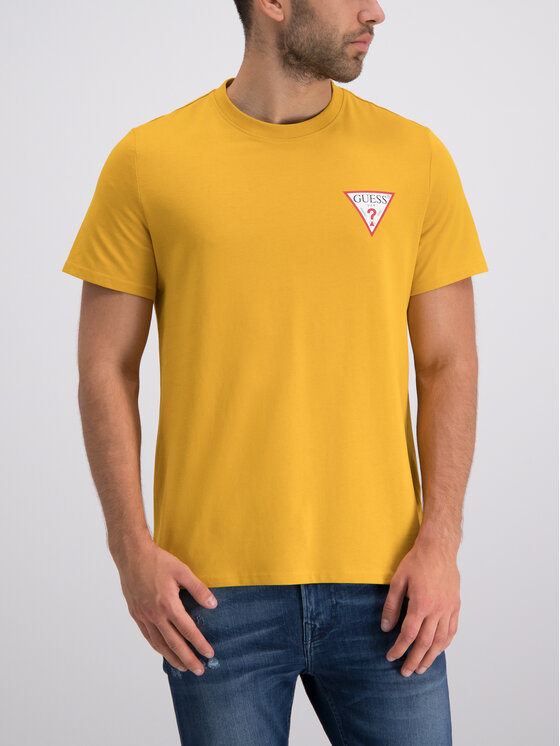 Guess Guess T-shirt M93I08 K8FQ0 Jaune Regular Fit