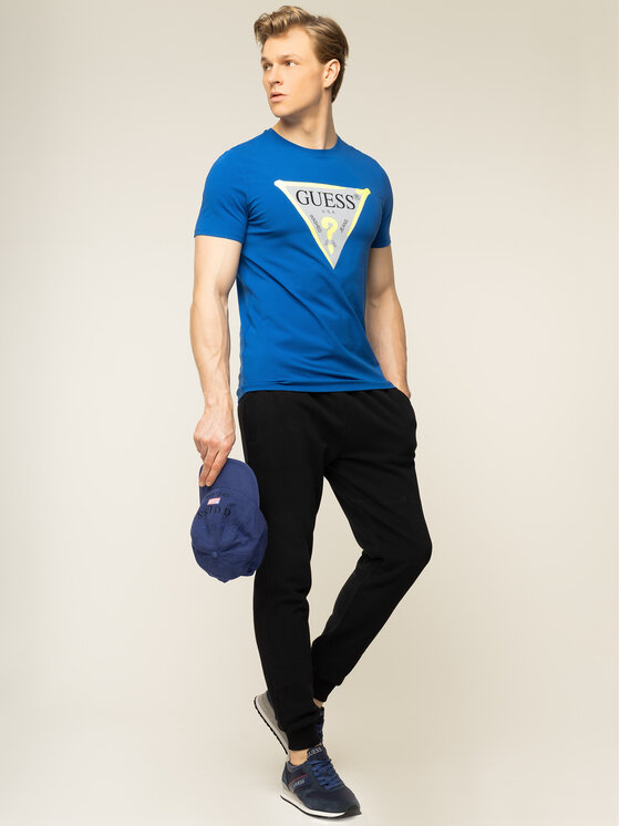 Guess Guess T-shirt M01I55 J1300 Bleu marine Slim Fit