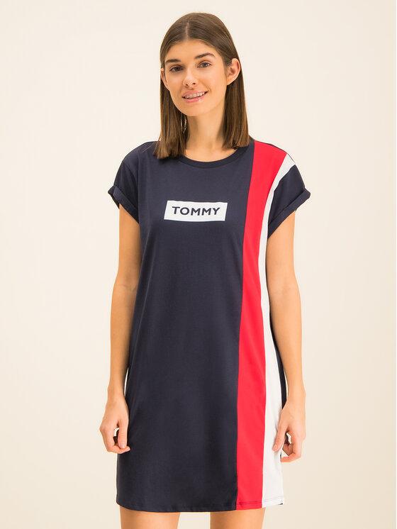 Tommy Hilfiger Tommy Hilfiger Sukienka codzienna Blocked UW0UW02049 Granatowy Regular Fit