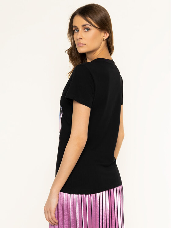 Pinko Pinko T-Shirt Scones PE 20 BLK01 1G14WY Y5BD Czarny Regular Fit