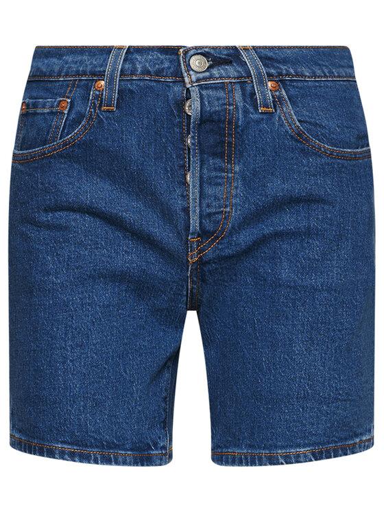 Levi's® Levi's® Szorty jeansowe 501™ Mid Thigh 85833-0007 Granatowy Regular Fit