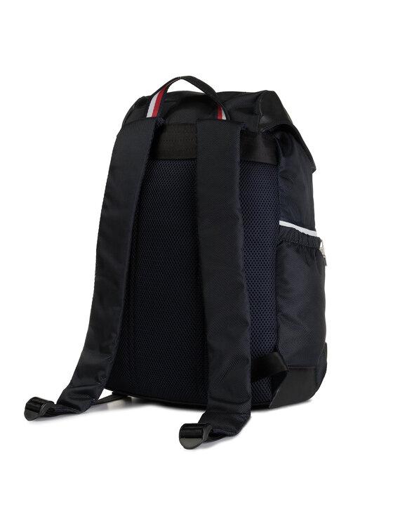 Tommy Hilfiger Tommy Hilfiger Rucsac Nylon Mix Flap Backpack AM0AM04768 Bleumarin