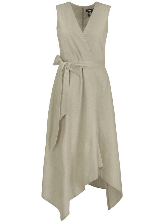 DKNY DKNY Sukienka letnia P9CB6ATV Beżowy Regular Fit
