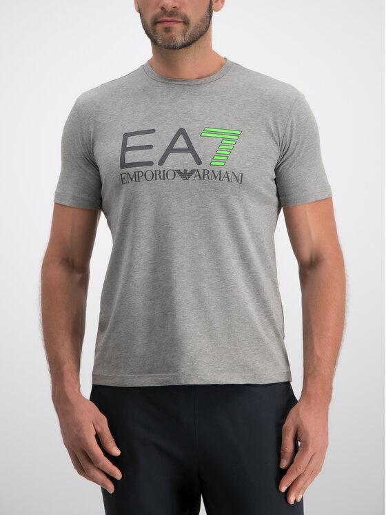 EA7 Emporio Armani EA7 Emporio Armani T-shirt 3GPT01 PJ03Z 3905 Gris Regular Fit
