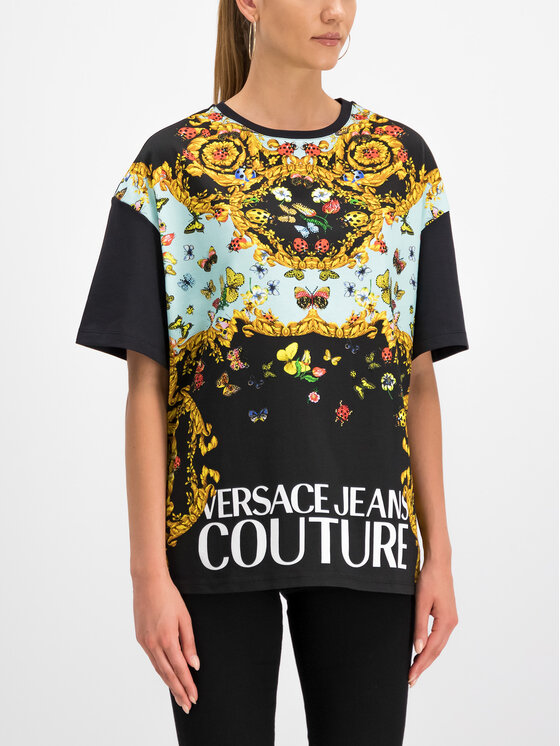 Versace Jeans Couture Versace Jeans Couture T-shirt B2HUA7DP Noir Regular Fit
