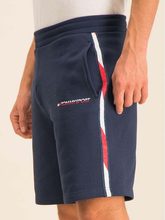 Tommy Sport Tommy Sport Sportiniai šortai Stretch Drawstring S20S200214401 BLU Tamsiai mėlyna Relaxed Fit