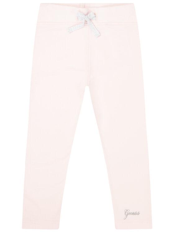 Guess Guess Legginsy K01Q12 K82R0 Różowy Slim Fit