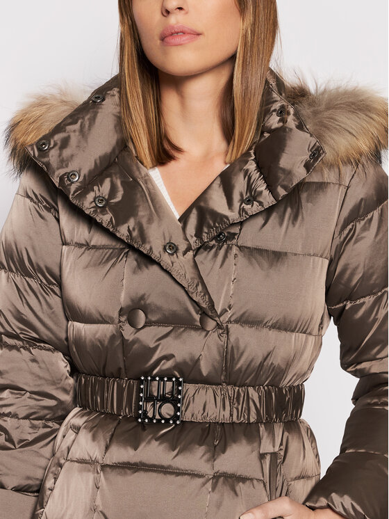 Liu Jo Liu Jo Pernata jakna WF1074 T4573 Smeđa Regular Fit