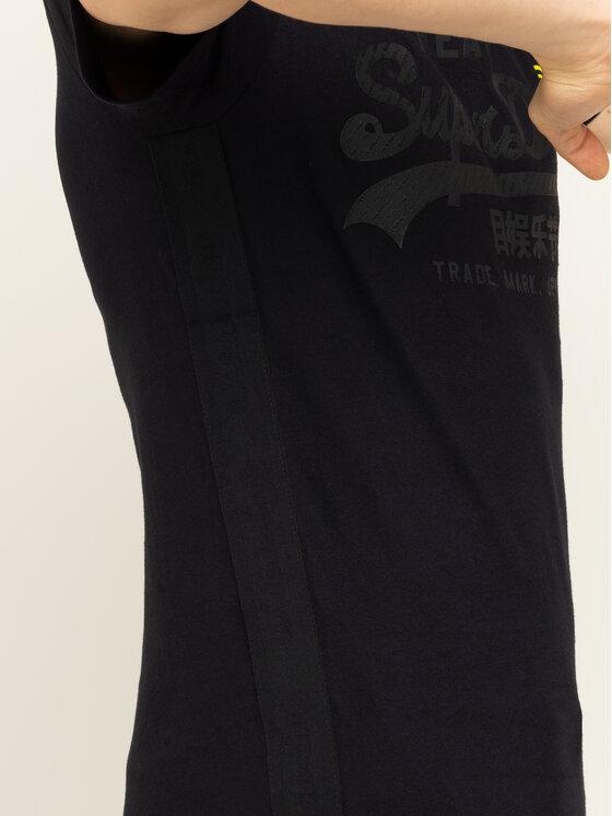 Superdry Superdry Marškinėliai VL Tonal Tape Tee M1000112A Juoda Regular Fit