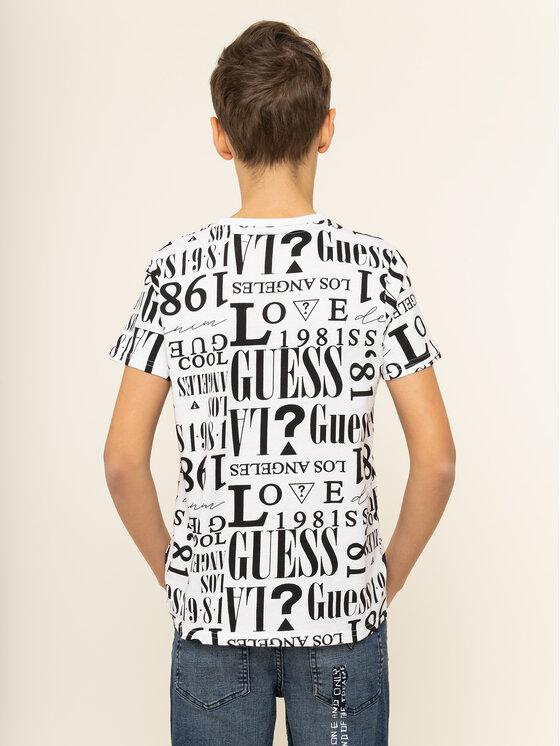 Guess Guess Marškinėliai L94I10 K8650 Balta Regular Fit