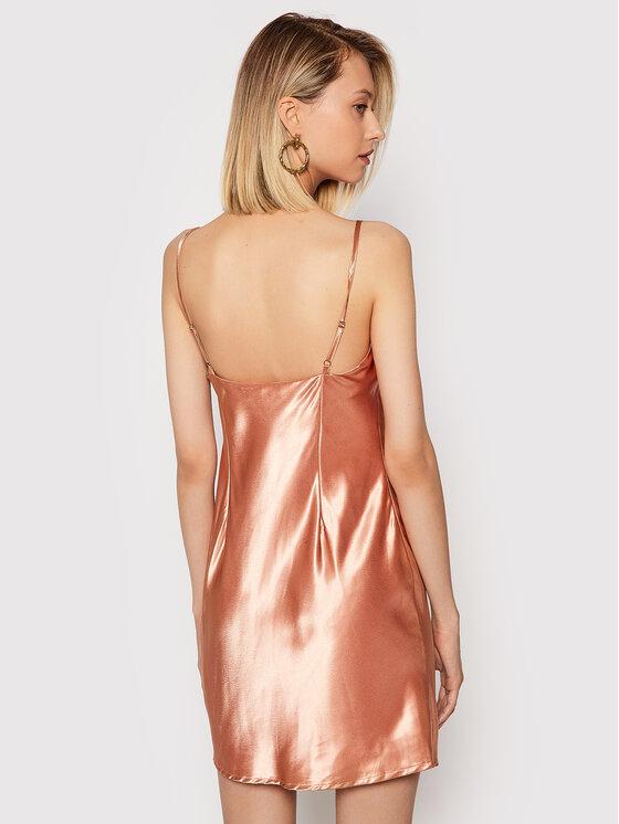 NA-KD NA-KD Sukienka koktajlowa 1017-001020-0569-581 Pomarańczowy Regular Fit