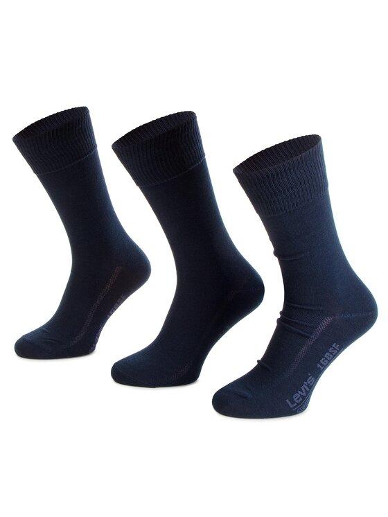 Levi's® Levi's® Súprava 3 párov vysokých ponožiek unisex 963024001 Tmavomodrá