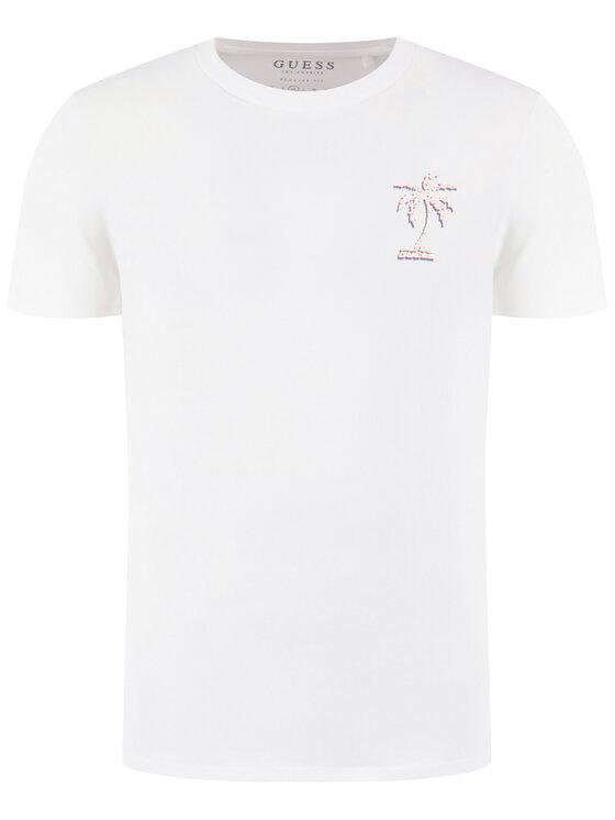Guess Guess Marškinėliai Palmography M0GI62 K8FQ0 Balta Regular Fit