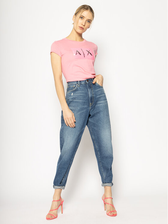 Armani Exchange Armani Exchange T-Shirt 8NYTDL YJ73Z 6423 Różowy Regular Fit
