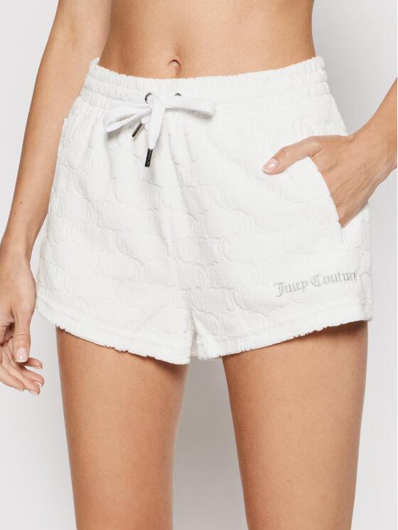 Juicy Couture Sportiniai šortai Monogram JCWH121071 Balta Regular Fit
