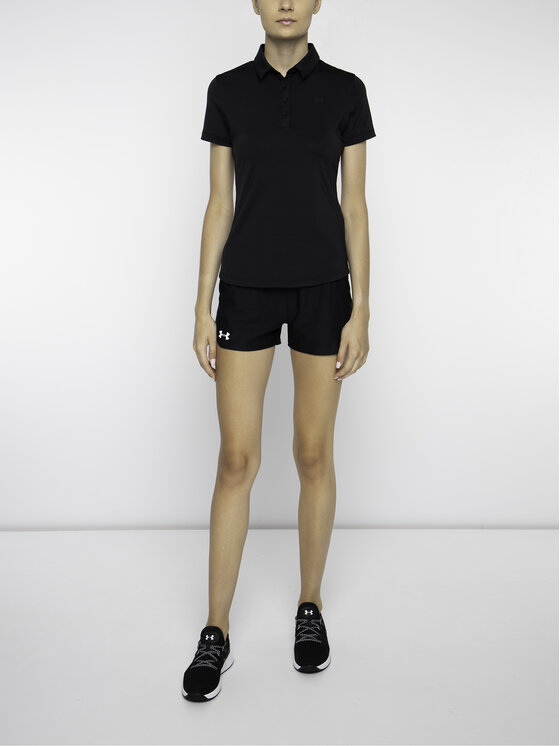 Under Armour Under Armour Тениска с яка и копчета UA Zinger 1326888 Черен Slim Fit
