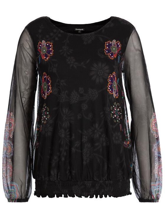 Desigual Desigual Блуза 19WWTKBW Черен Regular Fit