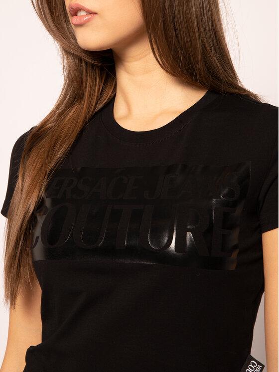 Versace Jeans Couture Versace Jeans Couture T-Shirt B2HVA7V6 Czarny Slim Fit