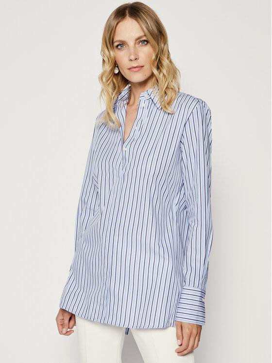 Victoria Victoria Beckham Marškiniai Ombre Stripe 2220WSH001026A Mėlyna Regular Fit