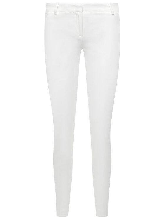 Pinko Pinko Παντελόνι chino Bello 84 PE 20 BLK01 1G14TT 2845 Λευκό Slim Fit