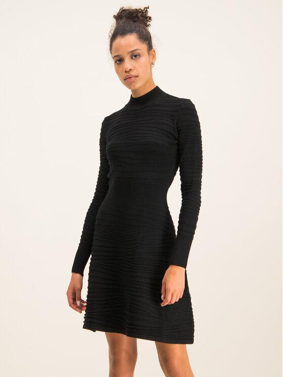 Hugo Hugo Φόρεμα υφασμάτινο Sumeeya 50430666 Μαύρο Slim Fit