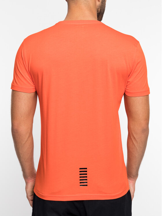 EA7 Emporio Armani EA7 Emporio Armani Marškinėliai 3GPT51 PJM9Z 1683 Oranžinė Regular Fit