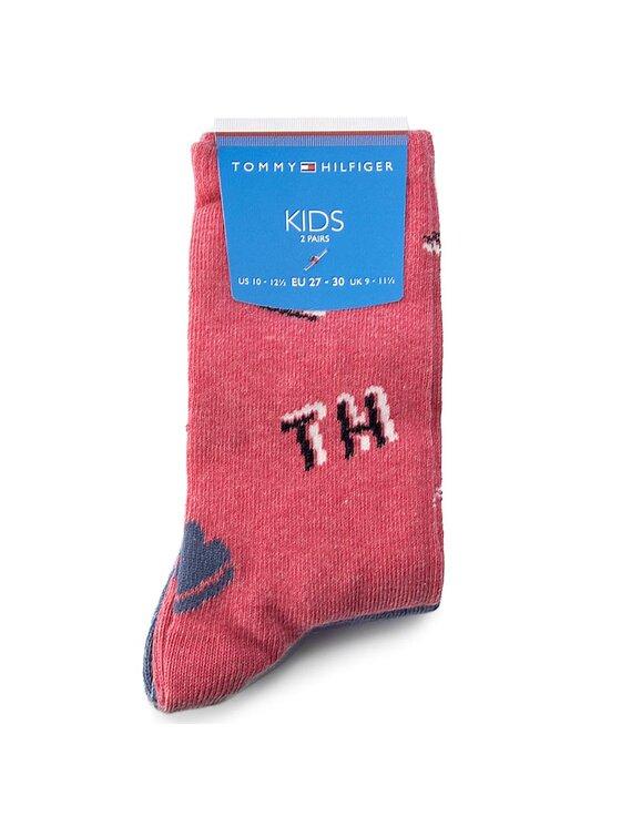 Tommy Hilfiger Tommy Hilfiger Sada 2 párů dětských vysokých ponožek 474005001 Modrá